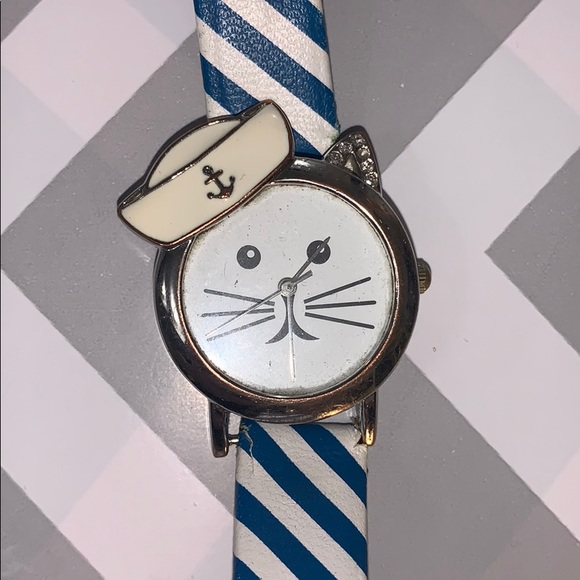 Sailor Cat Watch with Brand New Battery
